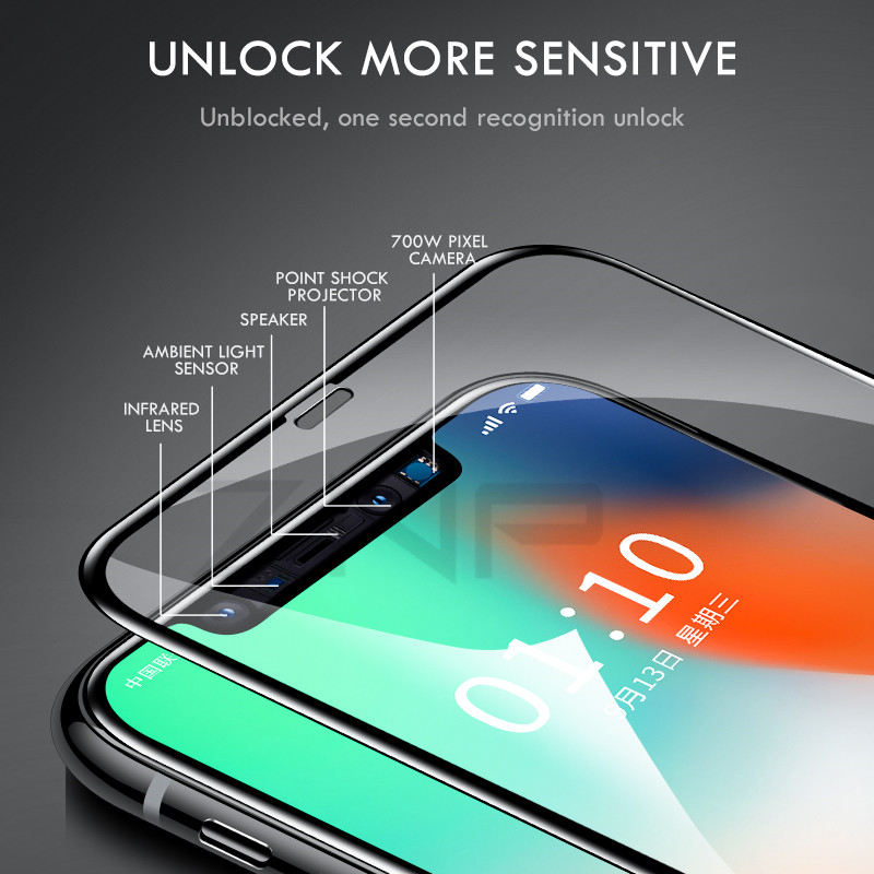Image 4 - 10D Tempered Glass on the For iPhone X 7 8 6 Plus Screen Protector Full Cover Protective Glass For iPhone 6 6s 7 XR XS Max film-in Phone Screen Protectors from Cellphones & Telecommunications