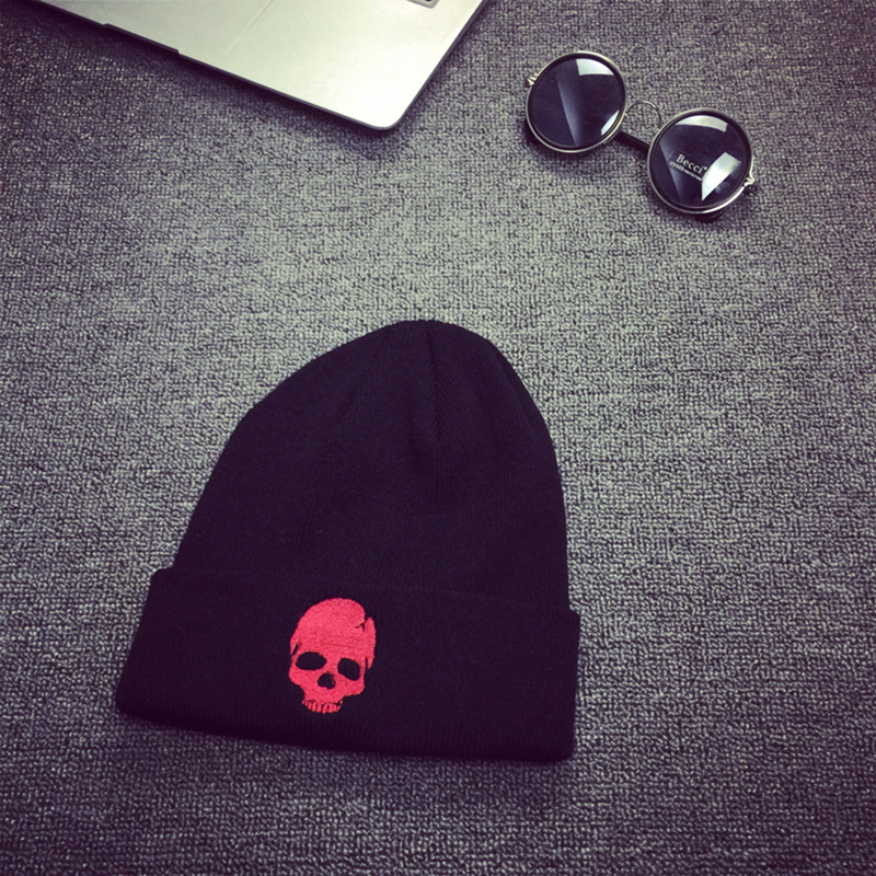 FLYMALL Brand Men Skull Print Warm a Winter Hat  Knitted Skating Mask Cap Men's Hats Beanies Gorro Snowboard Skullies Balaclava airsoft adults cs field game skeleton warrior skull paintball mask