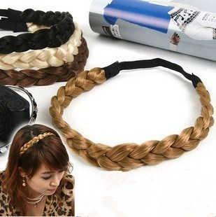 Dança do ventre cocar acessórios para o cabelo headband tranças corda elástica peruca trança por atacado