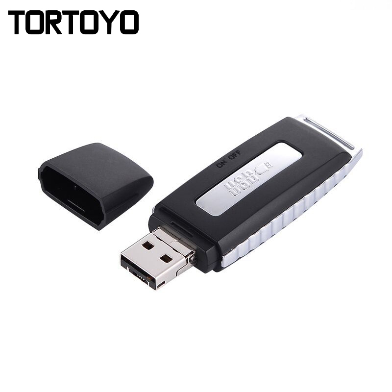 TORTOYO Mini Portable Digital Voice Recorder Smart Noise Reduction Study Conference Interview Recorder+OTG Micro+USB Flash Drive
