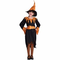 Pumpkin Spider Witch Cosplay Girls Witch Costume Hat Dress And Belt Set Vampire Costumes Halloween Costumes
