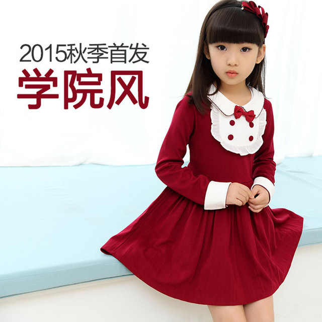 c0e12adcb € 15.27 |Vestidos para las niñas de 7 años de edad estilo de inglaterra los  niños del otoño del diseñador niña vestido de la alta calidad de ...