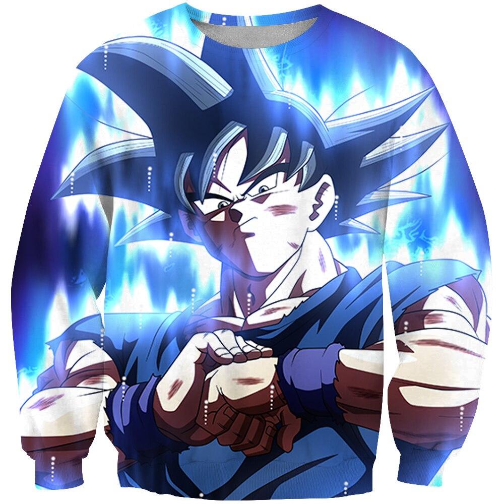 2019 New Hoodie Anime Hoodies Dragon Ball Z Pocket Hooded Sweatshirts Kid Goku Hoodies Pullovers Men Women Long Sleeve Outerwear