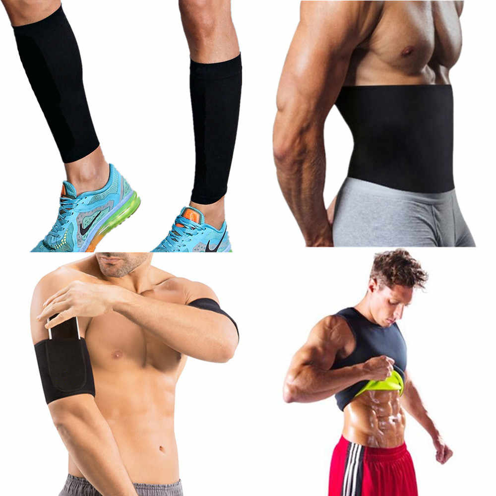 8238531a2c Men Thermal Body Shaper Slimming Shirt Hot Leg Sleeves Shapers Compression  Arms Sleeves Neoprene Waist Trainer