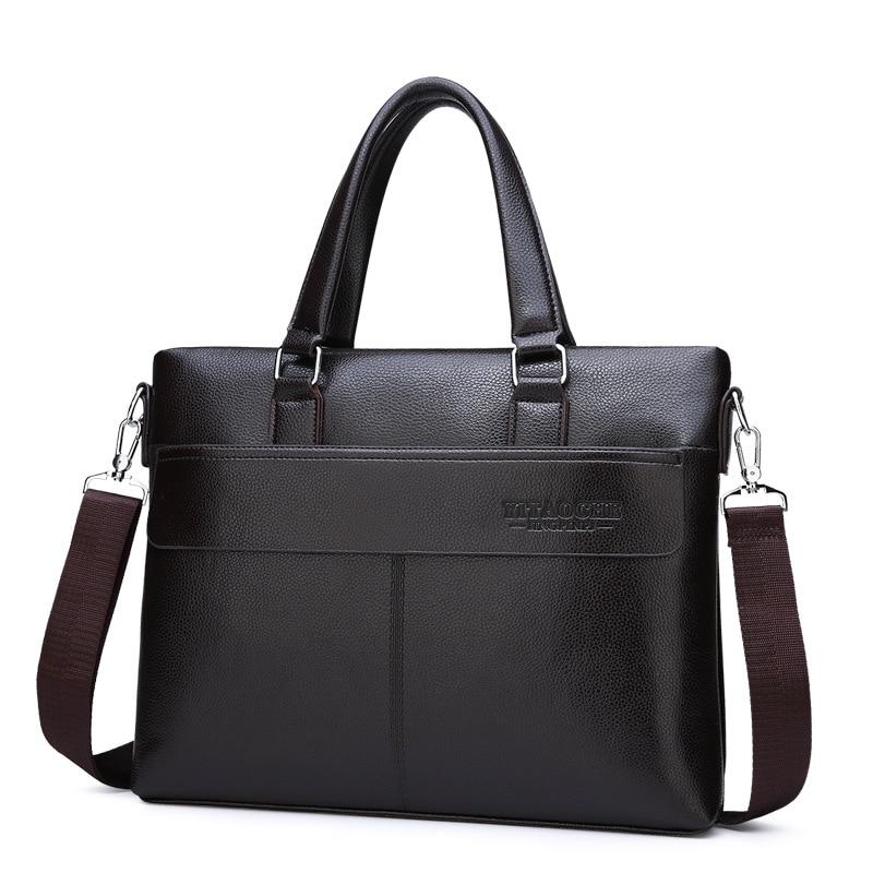 New foreign trade men s handbag cross section business official document  shoulder slung men s PU leather messenger bag computer d37013eab70d8