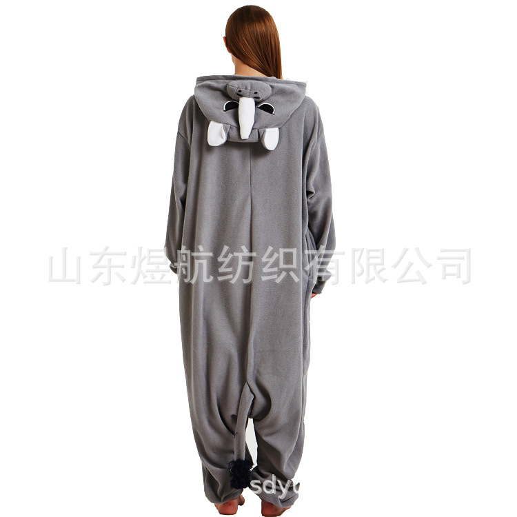2019 winter autumn cosplay party pajamas christmas onesies for adults cartoons rhinoceros Costumes couples Halloween animals