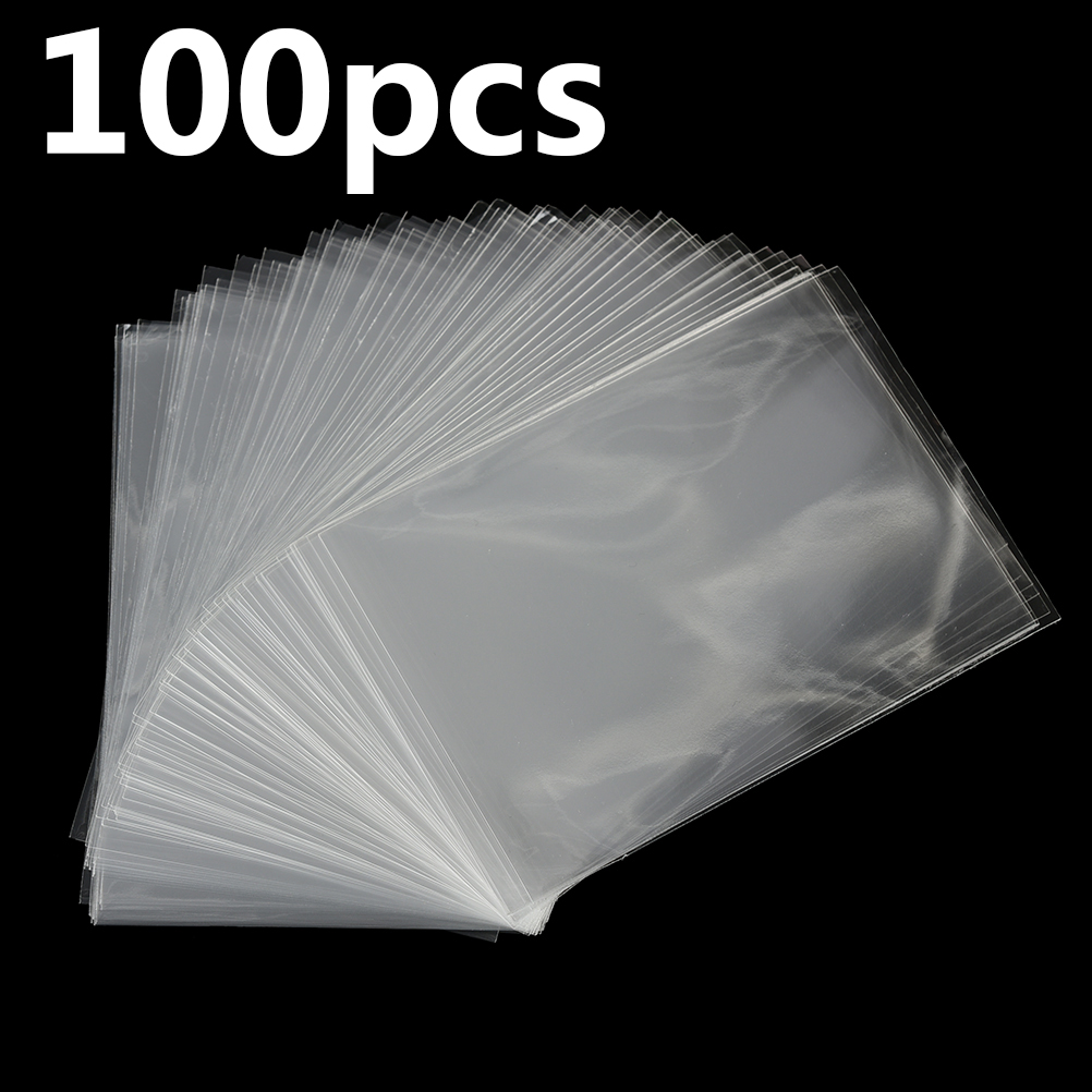 100Pcs 11.5X8cm Clear Resealable Bakery Candy Cello Bags Plastic Envelope Cookie Packaging Bags Jewelry Pouch