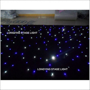 Image 2 - Free Shipping 4m*6m Blue / White LED Star Curtain LED Starry Sky Theater Curtain Wedding Backdrop Decoration For Events