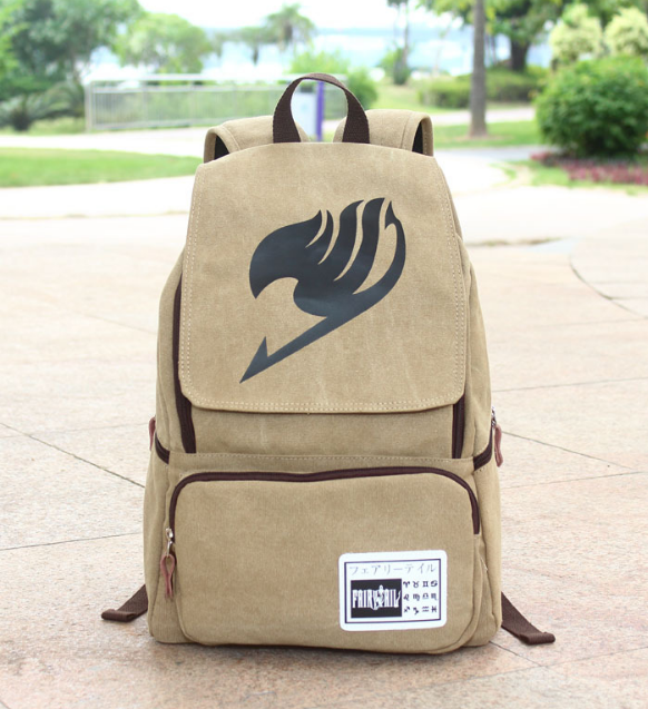 Anime Fairy Tail Backpack Student Cartoon School Bags Canvas Travel Backpacks Durable Teenager Daily Bag fairy tail 35