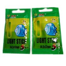 5 pcs High quality 4.5*37mm Night Fishing Luminous Float Fluorescent Lightstick Rod Lights Dark Glow Stick fishing tools