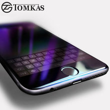 TOMKAS Tempered Glass For iPhone 7 / 7 Plus 3D Edge Anti UV Blue Light Full Cover Premium Screen Protector For iPhone 7 Glass