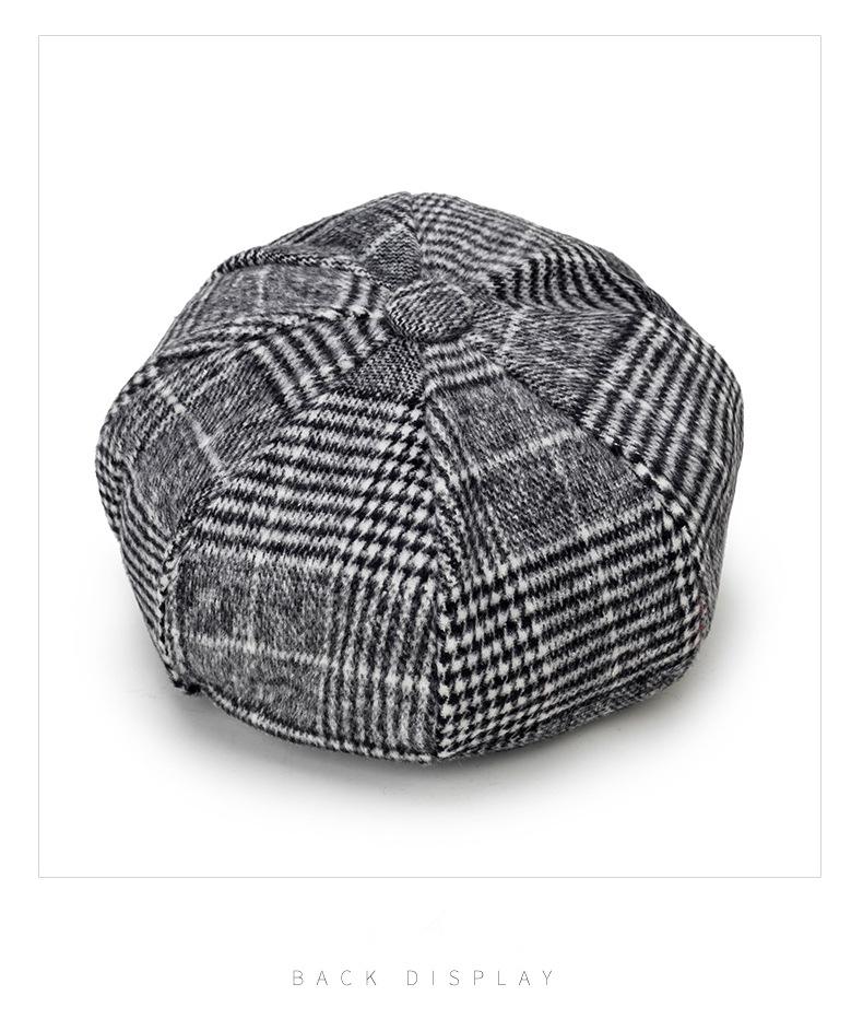 uomo donna inverno autunno berretto berretto piatto cappello caldo inglese  Franch fasion berretto da baseball tricuker in cotone solido vintage casual b4f988189148