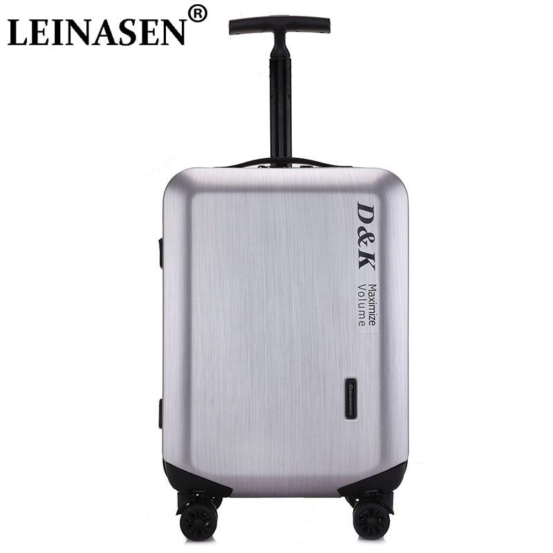 20'24'28 'bagages à glissière, coque PC et barre de traction en métal sac à bagages roulant boîtier de chariot valise de voyage roues livraison gratuite