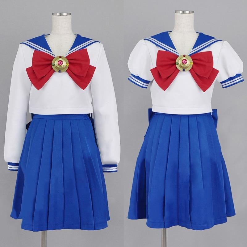 Sailor Moon Clothing Navy Sailor School Uniforms Performance Halloween Custom Size