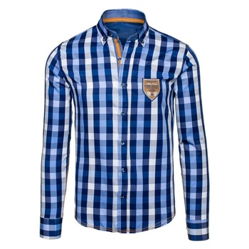 ZOGAA Men Casual Plaid Shirts Long Sleeve Men Business Slim Fit Shirt Men Single Breasted Male Shirts Camisa Masculina