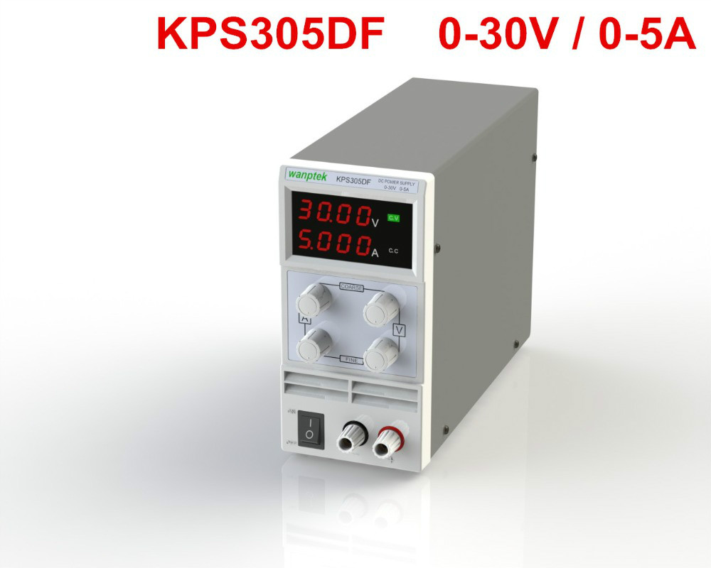 KPS305DF Switching Display 4 Digits LED 0-30V 5A Mini DC Power Supply High Precision Variable Adjustable AC 110V/220V 50/60Hz 0 30v 0 20a output brand new digital adjustable high power switching dc power supply variable 220v