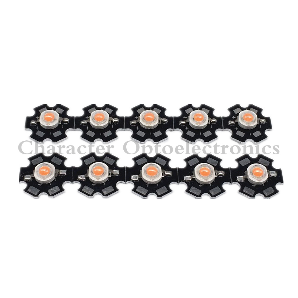 50pcs 1W/3W full spectrum led grow chip with PCB star , led grow lights ,broad spectrum 400nm-840nm led diode for indoor plant
