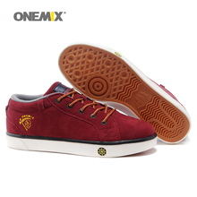 ONEMIX Brand Men s Skateboarding Shoes Lace Up font b Sneakers b font for Men with