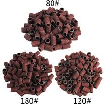100 шт./компл. шлифовальные ленты для ногтей фрезы для маникюра 80/120/180# фреза для снятия гель Лаки фрезы для педикюра
