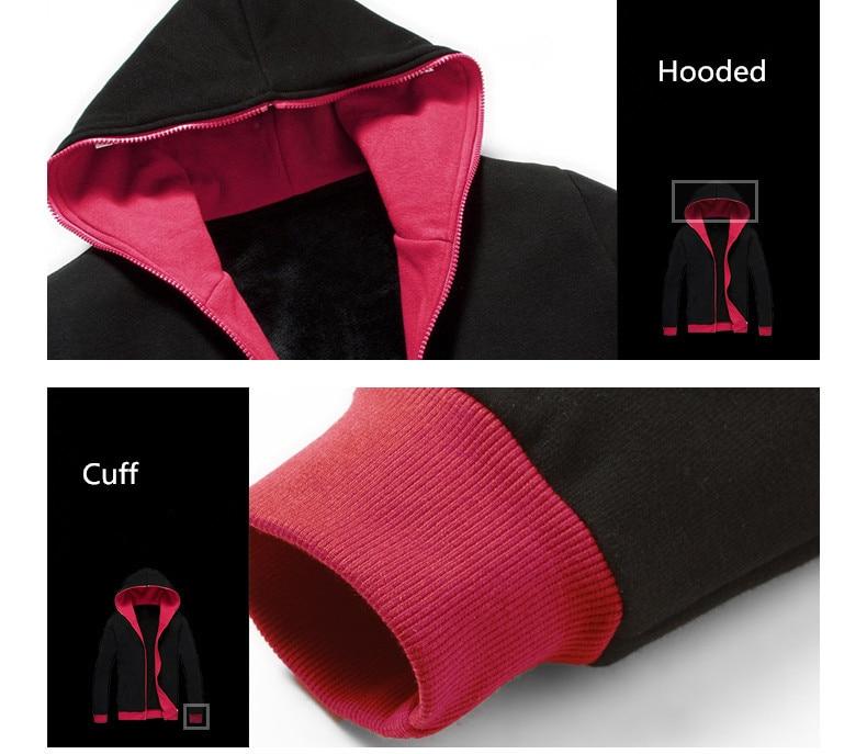 Efterår mænd Fairy Tail Glow Hoodie Hooded lynlås Streetwear Hip - Herretøj - Foto 6