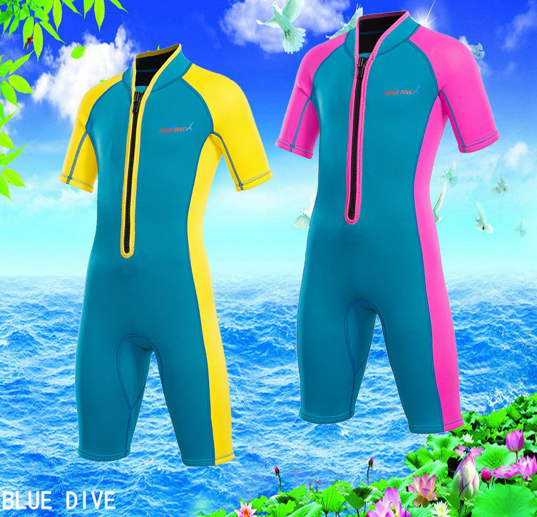 Kids 2MM Scuba Diving Surfing Snorkeling Fishing Boating Wetsuits Bpys Girls Neoprene Spearfishing Equipment Fishing Jumpsuit