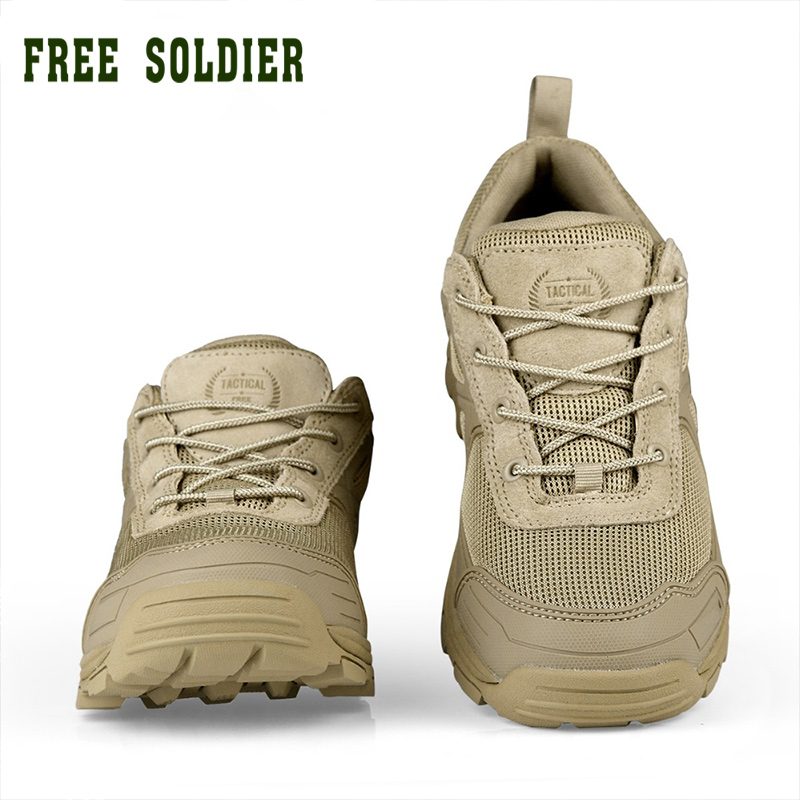FREE SOLDIER outdoor sports tactical military men shoes for camping climbing shoes men boots mountain non