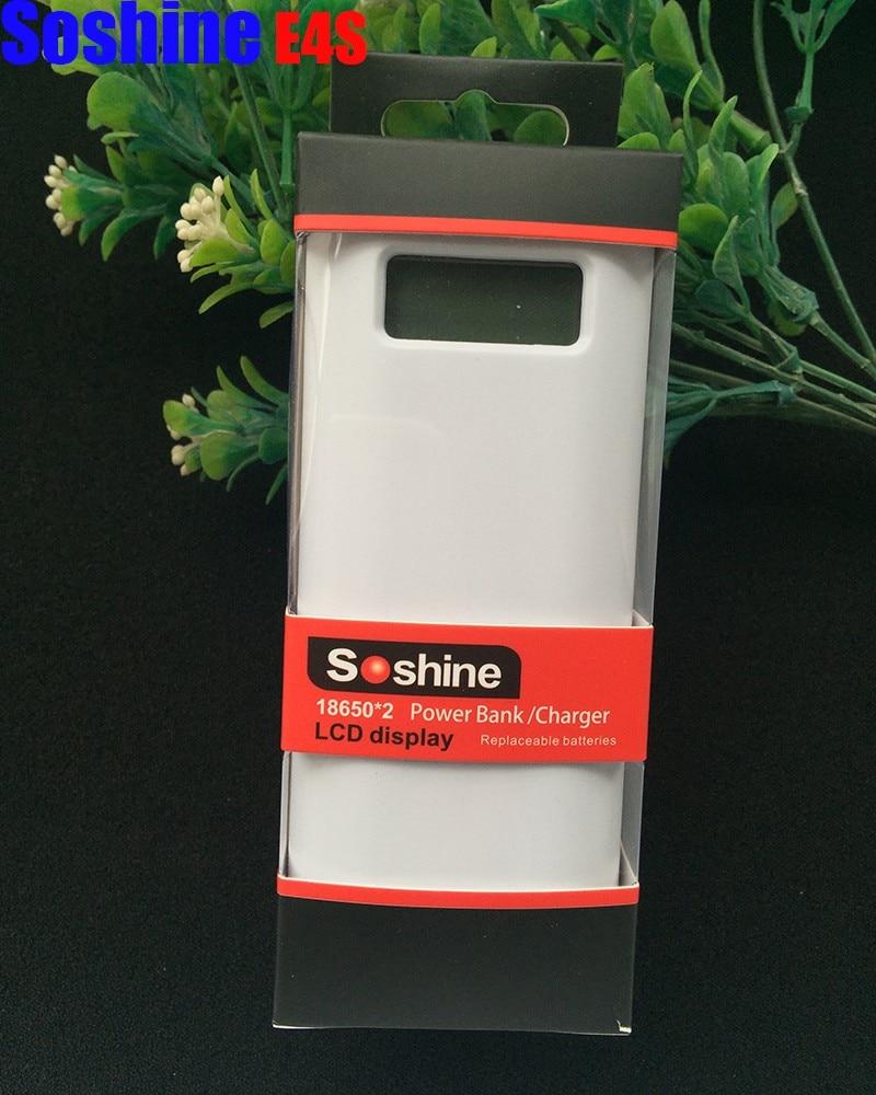 Soshine E4S 2x18650 Ladegerät LCD Display Handy Power Bank Dual USB Intelligente Power für Iphone 5 s 6 6 s 7-in Tragbare Beleuchtung Zubehör aus Licht & Beleuchtung bei