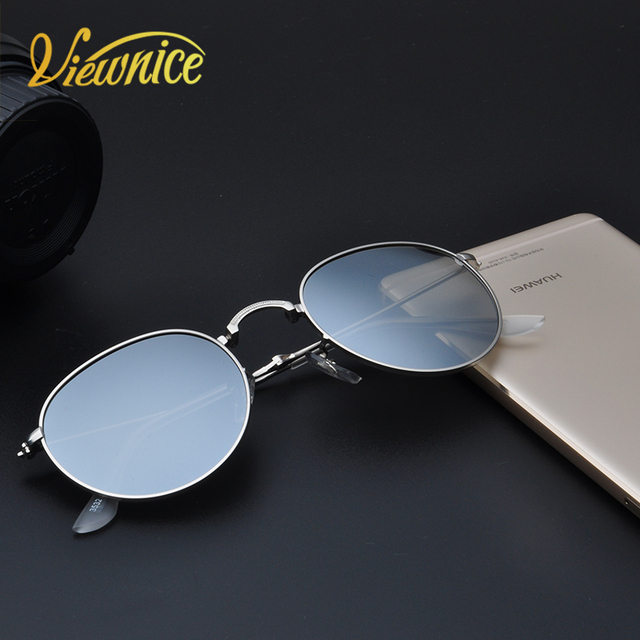 meilleure qualité pour belles chaussures complet dans les spécifications US $11.92 60% OFF|Viewnice 2018 Glasses Men Polarized Lunette homme  Sunglasses Women Round Wrap Eyewear Folded Metal Glasses Bay Design UV400  532-in ...