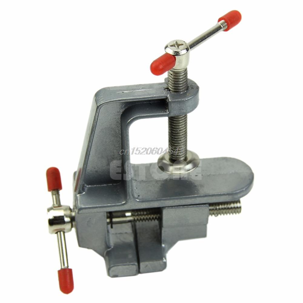 3.5 Aluminum Miniature Small Jewelers Hobby Clamp On Table Bench Vise Tool Vice R06 Drop Ship