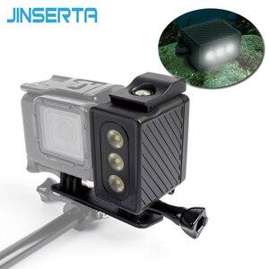 Image 1 - JINSERTA Underwater 30m Diving Light Waterproof LED Video Light Lamp for Gopro Hero 6 5 Black 4 3+ 3 SJ7000 XiaoYi 300LM Light