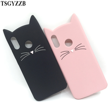For Huawei Mate 10 Lite Phone Case 3D Cute Cartoon Animal Cat Ear Silicone Capa P20 P10 P9 P8 2017 P Smart Cover