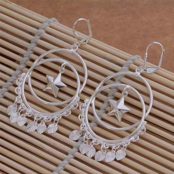 AE100 925 Trang Sức Bạc Mạ Bán Buôn, miễn phí Vận Chuyển Earrings đối với phụ nữ, phổ biến/amfajdma afcaiwja