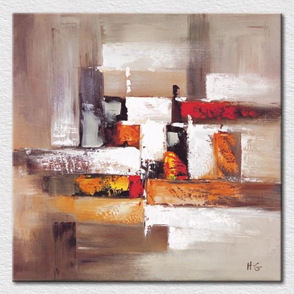 € 36.63 |Mélanger la couleur abstraite peinture Orange noir blanc et rouge  peinture peinte à la main toile art pour chambre décoration murale ...