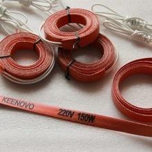 Keenovo силиконовый нагреватель, гибкий нагревательный элемент, 15*2000 мм 150 Вт@ 220 В
