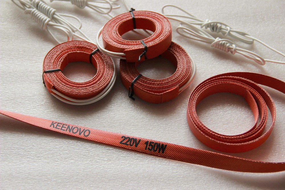 Keenovo Silicone Heater, Flexible Heating Element, 15*2000mm 150W@220V, Free Shipping