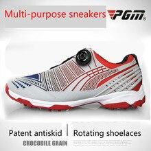 Pgm обувь для гольфа мужская спортивная обувь водонепроницаемая Мужская Спортивная обувь ручки пряжки шнурки дышащие противоскользящие мужские тренировочные кроссовки