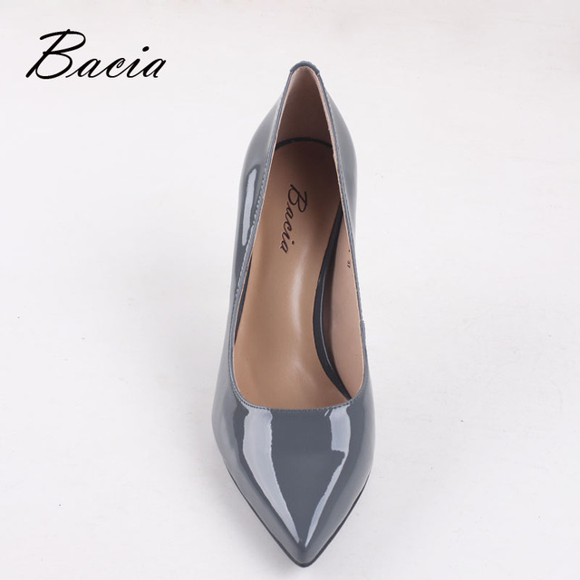 Bacia Women High Heel Shoes Basic Model Pumps Lady Sexy Pointed Toe Wedding Shoes Pink Red Pumps Handmade Sheepskin Shoes VB034 3