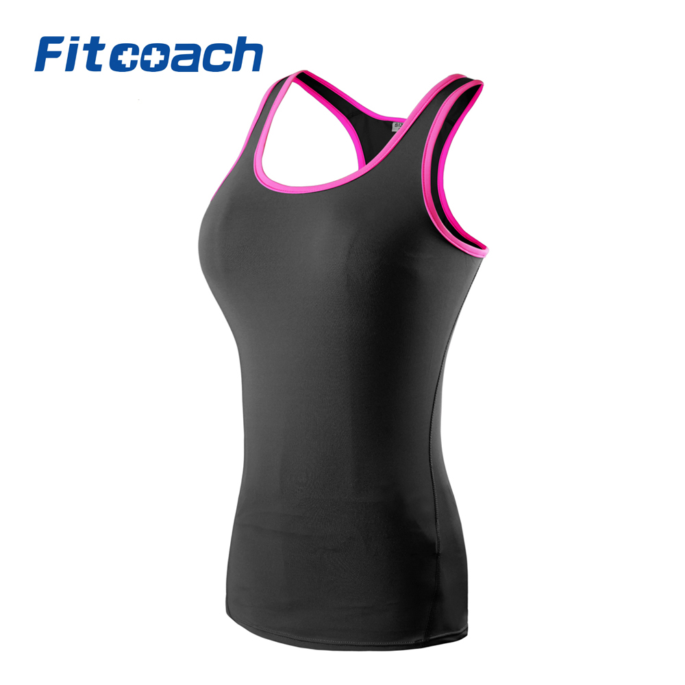 Fitcoach Womens Sports Yoga Racerback Tank Top Workout Running Sleeveless Vest