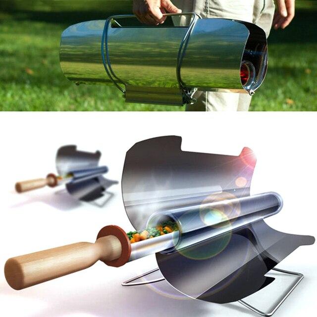 Tanpa asap BBQ Kompor Surya Portabel Kompor Oven Grill Barbecue Grill Aksesoris Gadget Luar Aktivitas Matahari Bersih