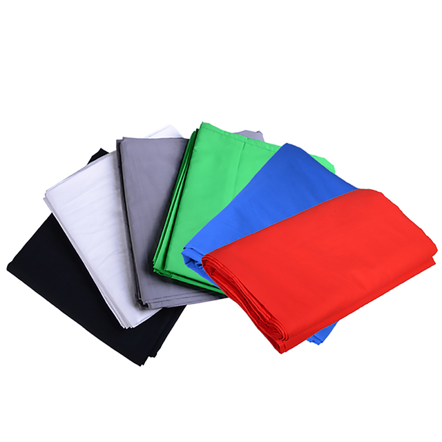 2Mx3M 100% Cotton Photo Studio Background  White Green Black Gray Blue Red Photography Backdrops Photography Background