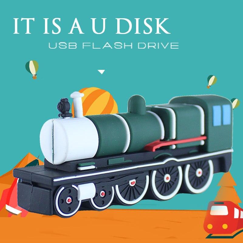 new cool cartoon USB flash drive mini train model USB stick 4gb 8gb 16gb 32gb Pen drive special gift Flash drive 64gb u disk