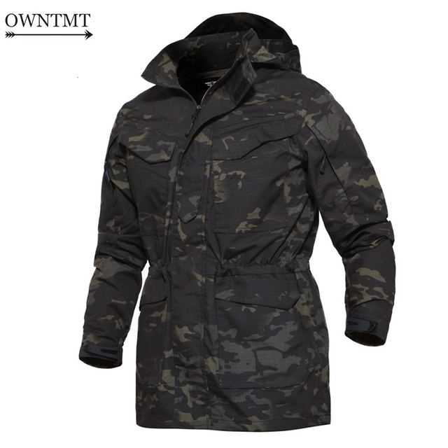 13d710dd5dc4 Army Field Tactical Jacket Men Waterproof Rip-stop Camouflage Military  Jacket Autumn Multi-Pockets Windbreaker Flight Pilot Coat