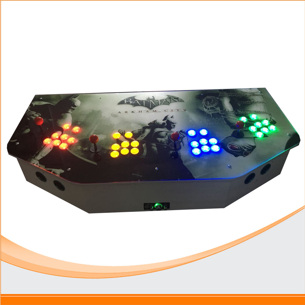 Newest 4 Player arcade game console 2100 in 1 games sanwa button and joystick use in video game console with multi games 520 in 1