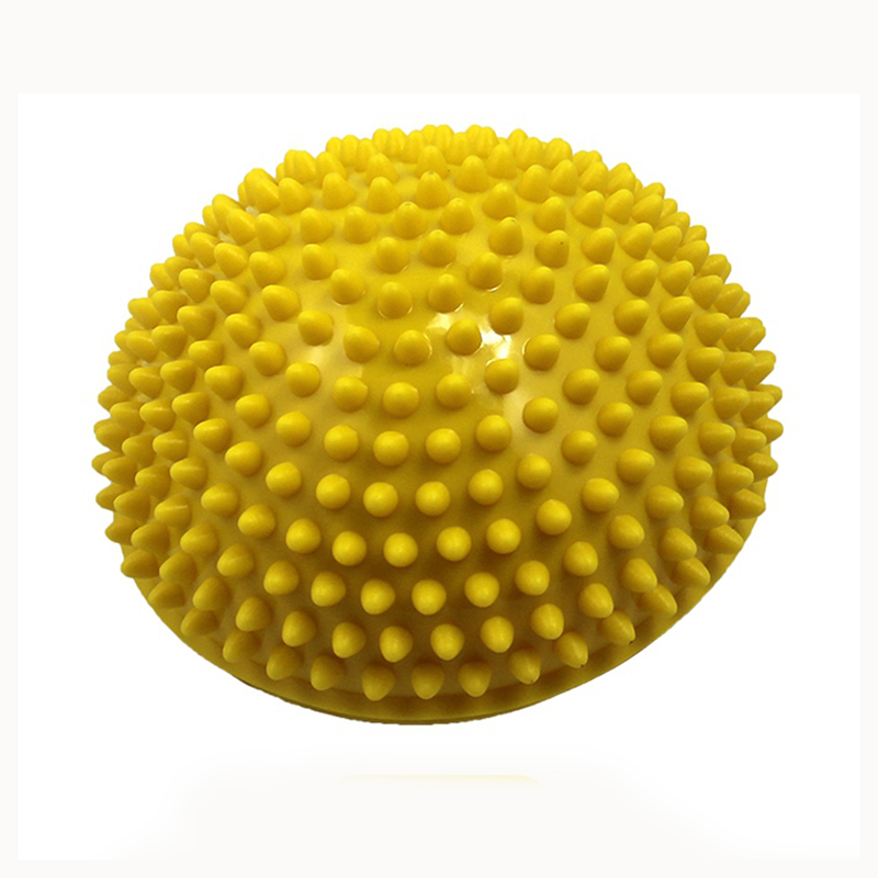 Yoga Half Ball Physical Fitness Appliance Exercise balance Ball point massage stepping stones balance pods GYM Pilates yellow  yoga ball yellow | Yellow Ball Puncture  font b Yoga b font Half font b Ball b font Physical Fitness Appliance Exercise