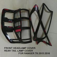 FREE SHIPMENT FOR RANGER T6 TXL FRONT HEAD LAMP COVER REAR TAILLAMP COVER FOR RANGER T6 TXL 2015-2016