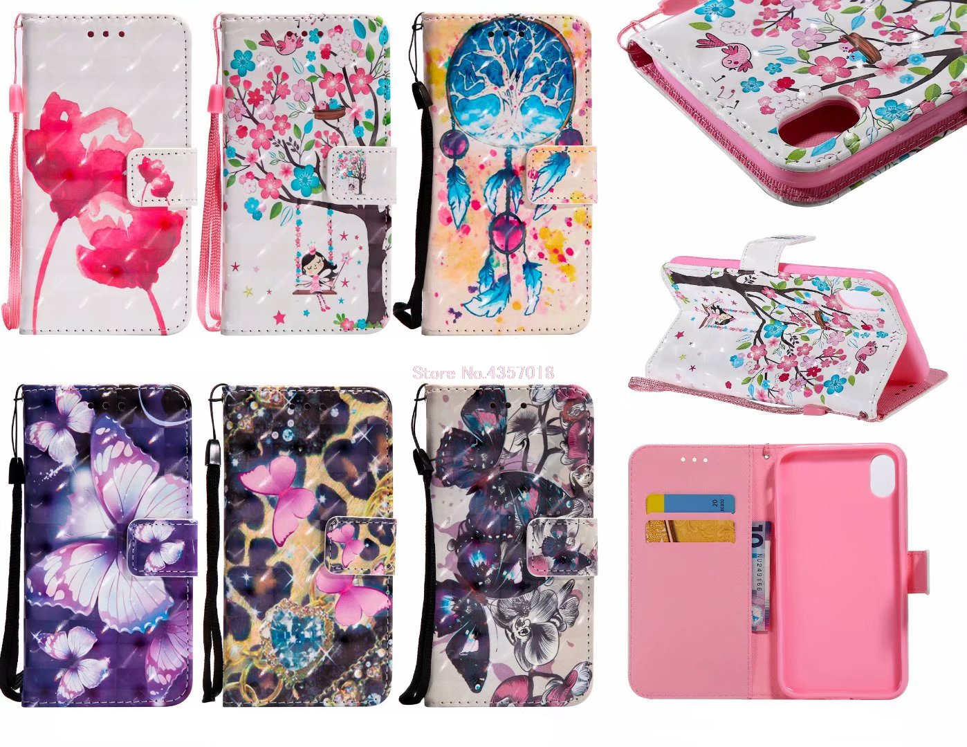 3d Gemalt Fall Auf Für Sony Xperia Xz3 Globale H8416 Buch Flip Fällen Für Sony Xz3 Xperia Xz3 Pu Leder Abdeckung Brieftasche Hand Strap