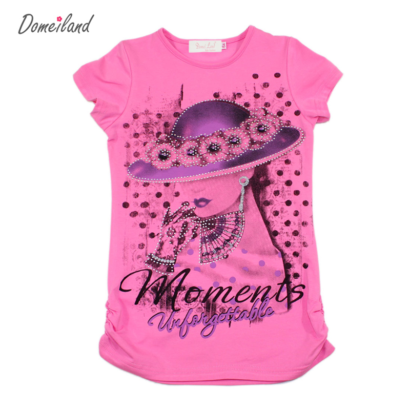 2017 fashion summer brand domeiland girl clothes children for Cute summer t shirts