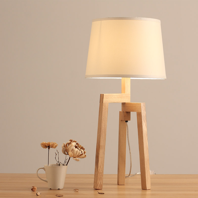 Living room lamp personality retro wood simple bedroom bed room became a white wood table odd ranks yield retro furniture living room coffee table corner a few color seattle bedroom nightstand h