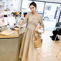 2019 mujeres ropa de manga larga Maxi vestido de gran tamaño caftán camisa vestido más verano
