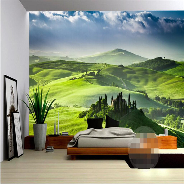 Beibehang Wallpaper Luxury Quality HD Fresh And Natural Beauty Of The Green Hills Covers 3d Large